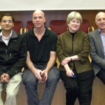 Speakers at First Annual I-CORE Conference From left to right: Eithan Galun, Vineet Bafna, Ofer Mandelboim, Mary-Claire King, Michael Hayden, Martin Chalfie