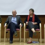 Roundtable discussion: Will Genomics Bring the Promise We are Hoping For? From left to right: Prof. Mary-Claire King, Dr. Michael Hayden, Prof. Batsheva Kerem, Prof. Martin Chalfie